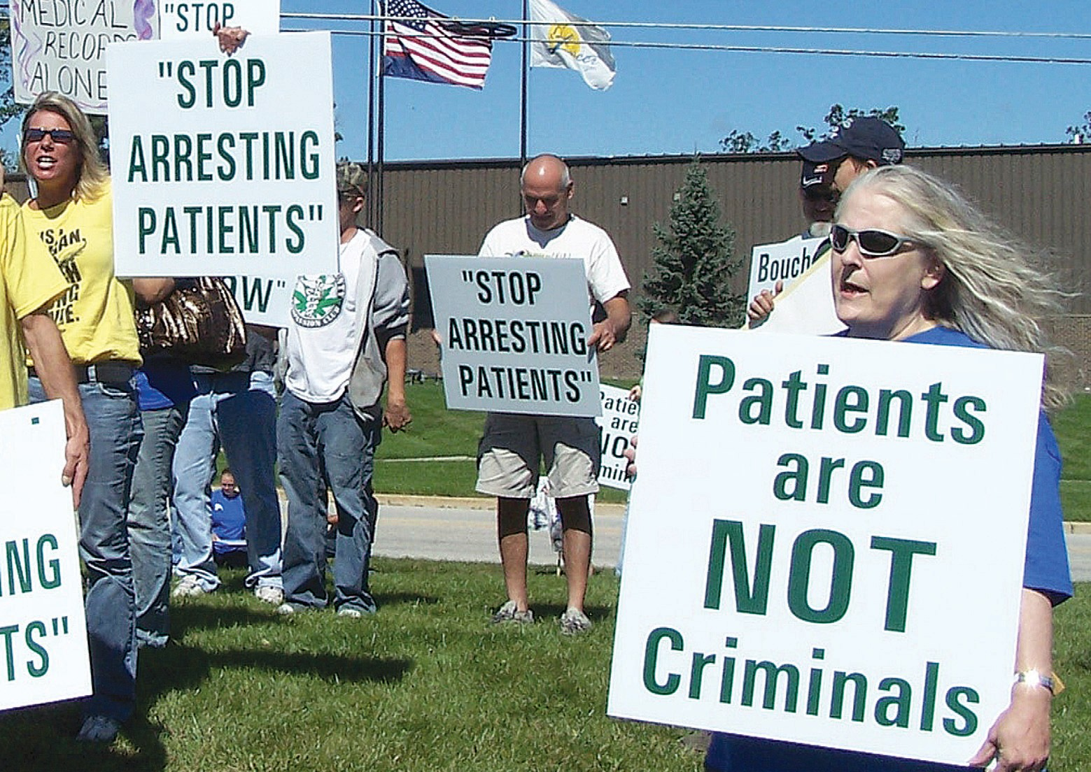 Marijuana advocates protest police action | The County Press